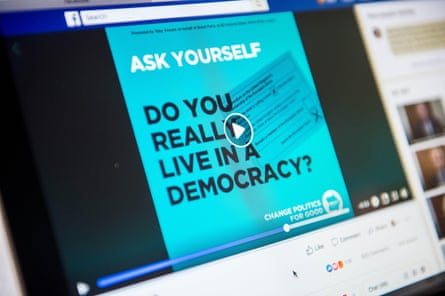 a Brexit party advertisement on Facebook.