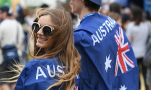 Tennis fans arrive at Melbourne Park for the Australian Open on Thursday.