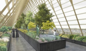 Proposals include a greenhouse be built in place of the old, wooden roof.