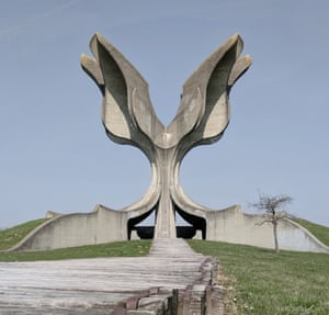 The Flower Monument, commonly referred to as the 'Stone Flower' in Croatia.