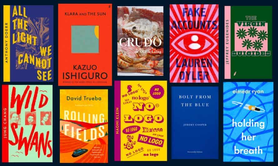 Ten book covers.