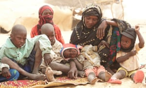 A mother with her children in northern Chad