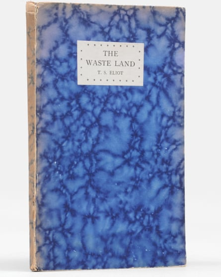 A first edition of TS Eliot's The Waste Land, inscribed to Eliot's therapist, Dr Roger Vittoz, 1923.