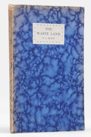 First edition TS Eliot Waste Land cover, inscribed to Eliot's therapist