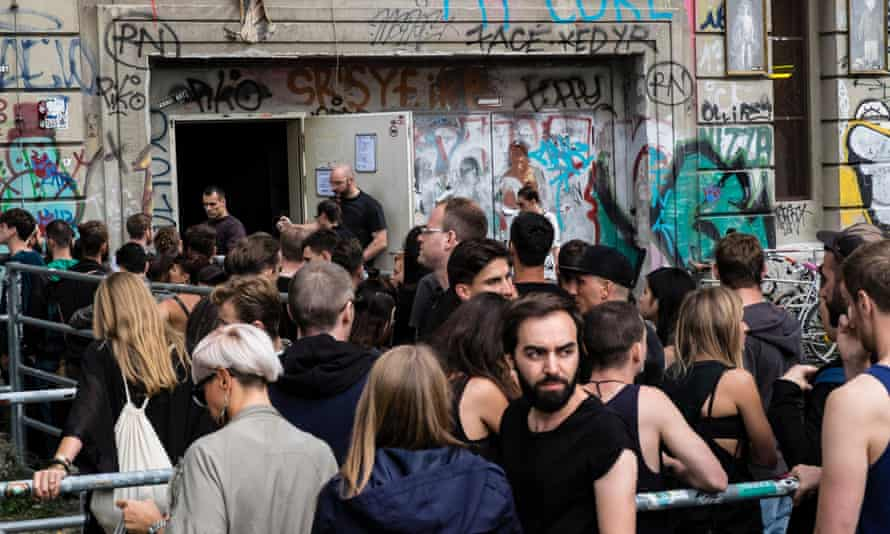 Outside Berghain on a Sunday afternoon