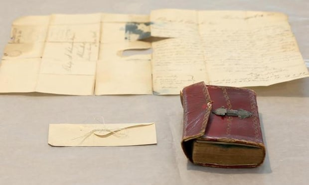 George Washington's Hair Found Tucked In Old Book In New York Library by Alison Flood for The Guardian
