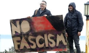 Members of the Kent Anti-Racism Network protesting against far-right groups.