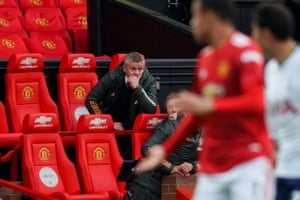 Ole Gunnar Solskjaer watches from the stands