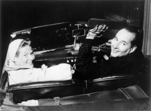 Ingrid Bergman and Roberto Rossellini on a weekend trip round Naples, Capri and the Amalfi Coast. Photograph: Private Collection