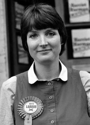 Harriet Harman in 1982, when she was Labour candidate in the Peckham byelection.