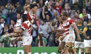 Japan secured a famous win over South Afrcia in the 2015 World Cup.