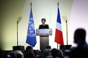 Christiana Figueres, the UN climate chief, speaks during the opening session