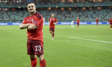 'Everything is possible': Switzerland's Shaqiri on quarter-final with Spain – video