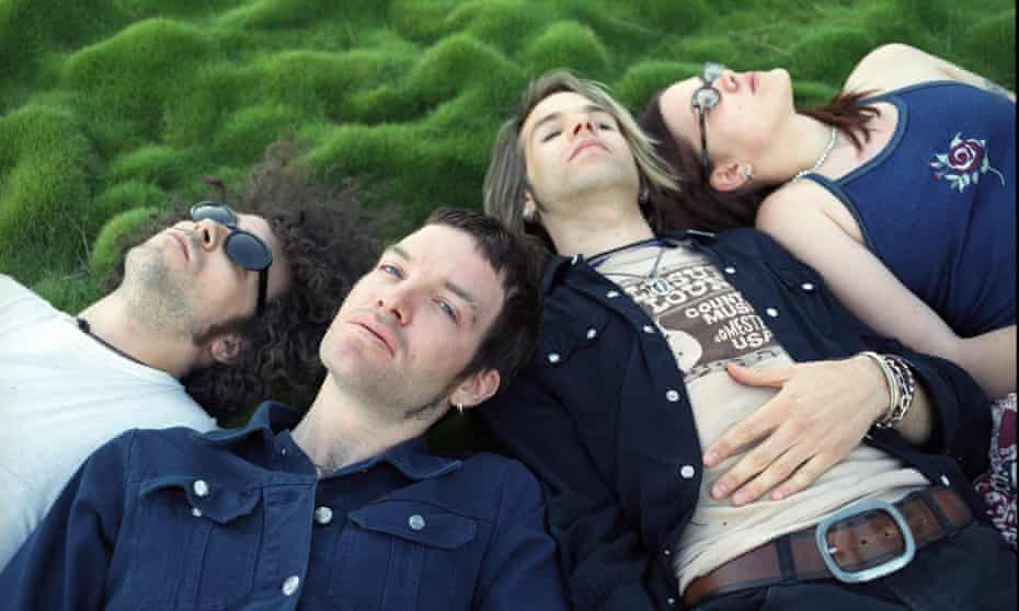the Dandy Warhols, from left: Brent De Boer, Courtney Taylor-Taylor, Peter Holmstrom and Zia McCabe.