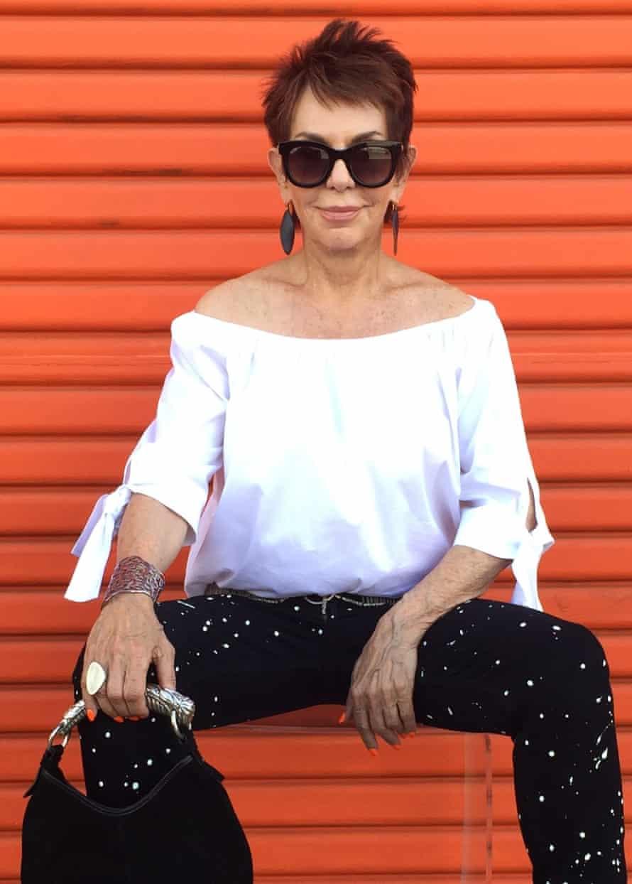 Dorrie Jacobson of Senior Style Bible in a Zara top