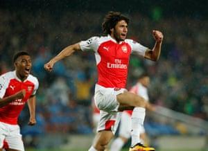 Elneny rightly celebrates his goal.