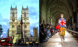 Soulless … a model walking the catwalk for Gucci in Westminster Abbey.