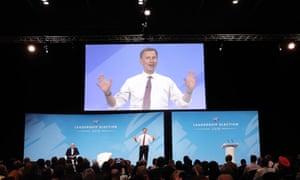 Jeremy Hunt at the conservative leadership hustings