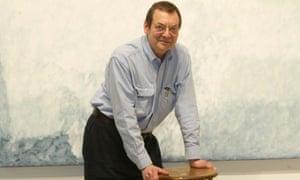 Robert Ryman in his Manhattan studio in 2004.