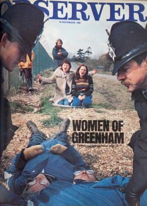 No nukes is good nukes: Greenham protestors, 1982.