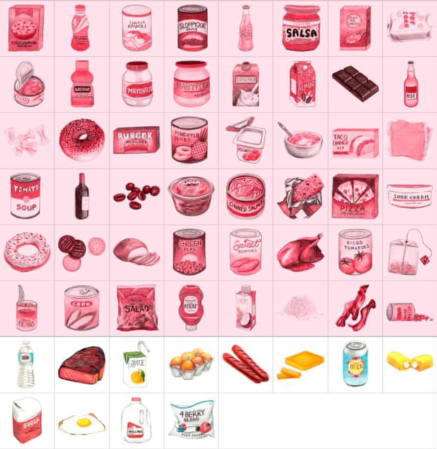 Illustration of groceries