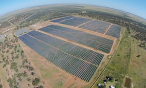 Solar farm in Queensland.