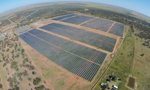 The solar farm at Barcaldine in outback Queensland