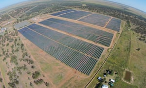 Barcaldine solar farm in outback Queensland: the