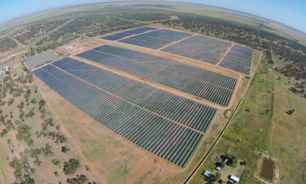 A solar farm in outback Queensland