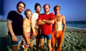 The Beach Boys in LA in 1967, featuring Brian Wilson, third from right, and Mike Love, second right