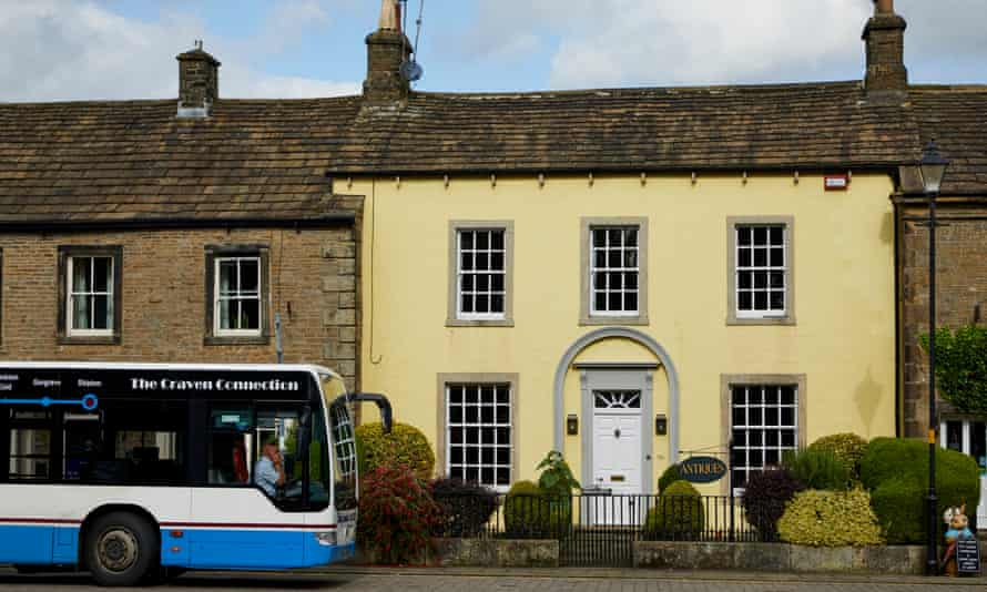A rural bus service at Gargrave, North Yorkshire