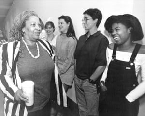Princeton University students congratulate her in 1993