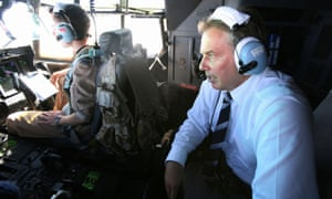Tony Blair on his way from Baghdad to Basra