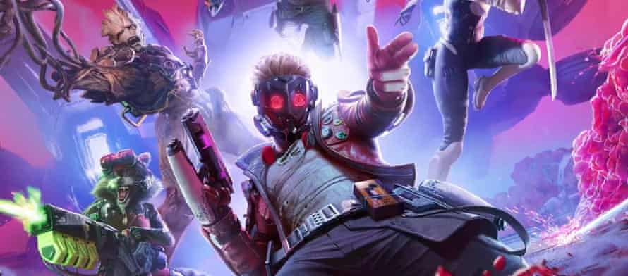 Guardians of the Galaxy video game artwork