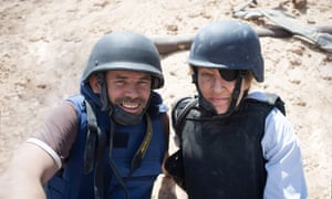 Urgent … Paul Conroy with Marie Colvin in Under the Wire.
