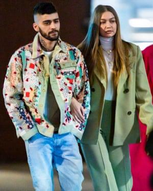Zayn Malik and Gigi Hadid in New York last week.