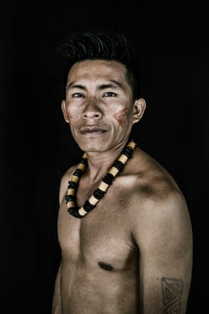 Jeremias Miguel Andre, 23, from the Macuxi tribe in Uiramutã