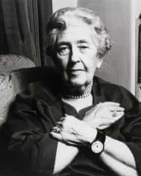 Agatha Christie pictured in November 1969