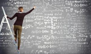 Maths on a board.