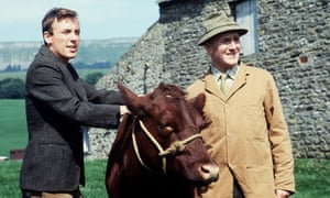 Christopher Timothy, left, and Robert Hardy in All Creatures Great and Small, 1979.