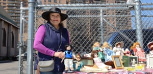 Elba Ciobanul, who sells dolls at a flea market in Trump Village, says Donald Trump needs to work on his manners.