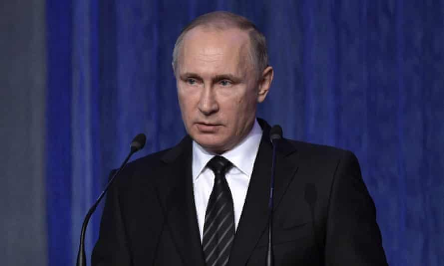 Russian president Vladimir Putin. The US placed sanctions on seven businessmen and eight companies and government enterprises on Tuesday.