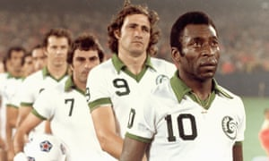 Pele played three seasons with the Cosmos between 1975 and 1977.