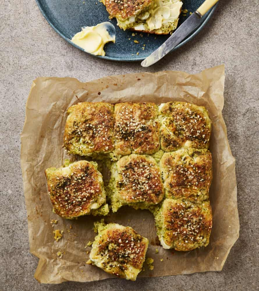 Yotam Ottolenghi's pull-apart scones with za'atar and feta.