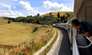 New Zealand's trains provide great viewing areas to enjoy the scenery.