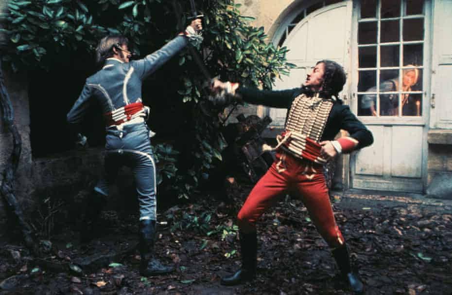 Keith Cardin and Harvey Keitel in The Duellists