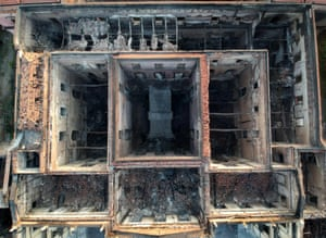 A history vanished … view from above of the burnt-out museum.