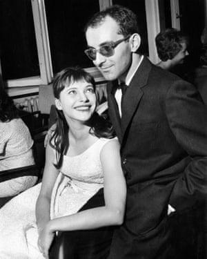 Anna Karina with Jean-Luc Godard in 1962