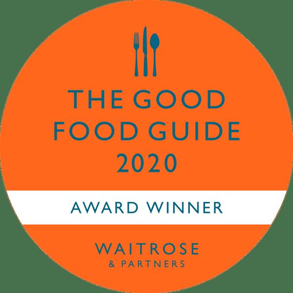 The Good Food Guide. 2020 AWARD WINNER