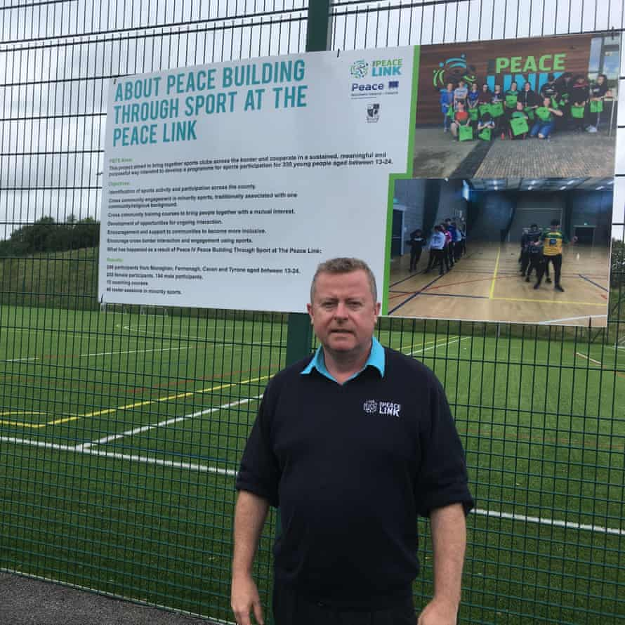Ciaran Mulhall at the Peace Link's playing fields
